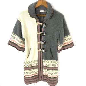 Sleeping on snow small collared button cardigan